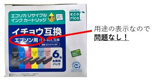 用途表示として商標権が及ばない例